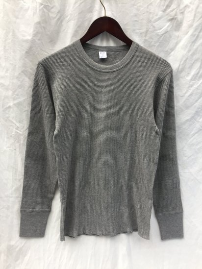 Gicipi Cotton Knit Made in Italy GrayGicipi Cotton Heavy Waffle Crew Neck L/T Made in ITALY Gray