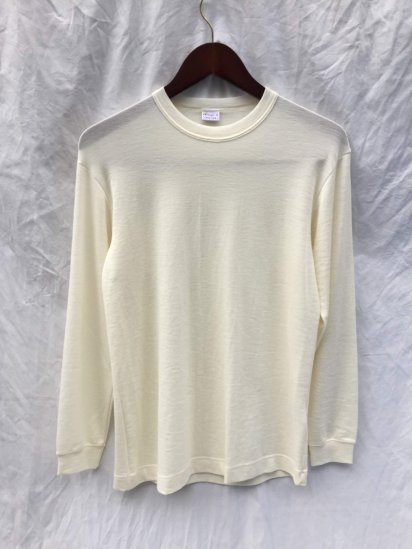 Gicipi Wool x Silk Crew Neck L/T Made in ITALY Natural