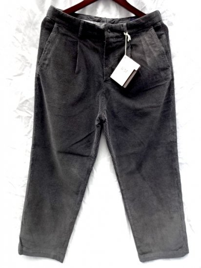 RICCARDO METHA Corduroy 1Tac Trousers Made in Italy Charcoal