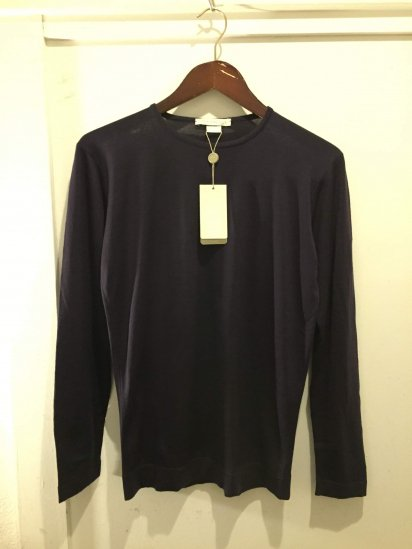 John Smedley OLD TAG Extra Fine Merino Wool Knit IMMERSE PULLOVER Made in England