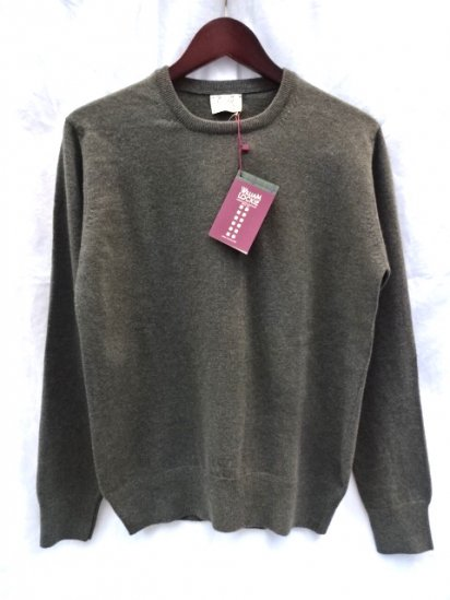 WILLIAM LOCKIE Made in SCOTLAND Super Geelong Lambs Wool Crew Neck Sweater for ILLMINATE Loden