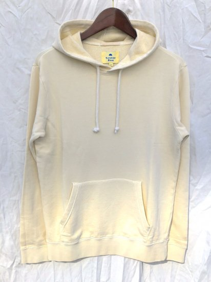 Sunshine Blues Overdyed Sweat Hoodie Creme