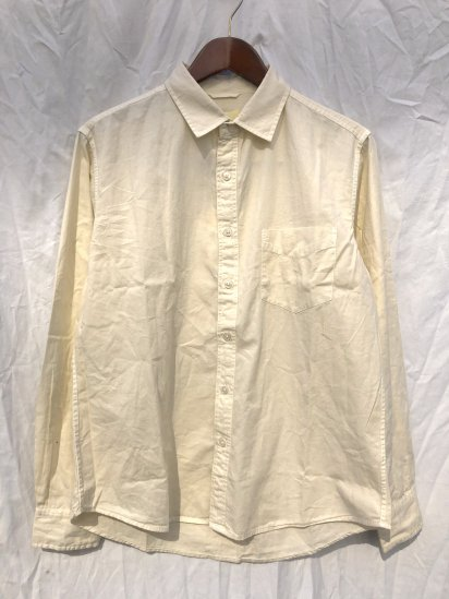 Sunshine Blues Overdyed Relax Fit Regular Collar Shirts Creme