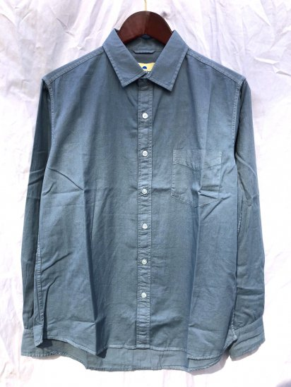 Sunshine Blues Overdyed Relax Fit Regular Collar Shirts Slate
