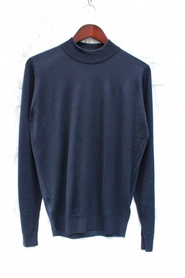 John Smedley Extra Fine Merino Wool Knit HARCOURT PULLOVER Made in England Midnight