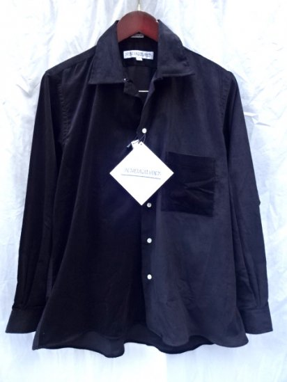 INDIVIDUALIZED SHIRTS x ILLMINATE 別注 Corduroy Open Collar Shirts MADE IN U.S.A Black