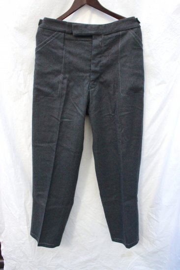 50's Vintage Dead Stock British Prisoner Wool Trousers SERG GREY (Grey) / 1
