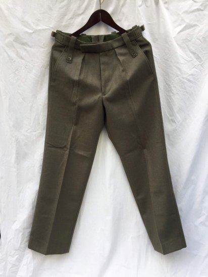Dead Stock RM(Royal Marine) Lovat Barrack Dress Trousers Olive