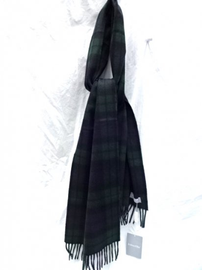 Joshua Ellis Cashmere Muffler Made in Scotland Black Watch