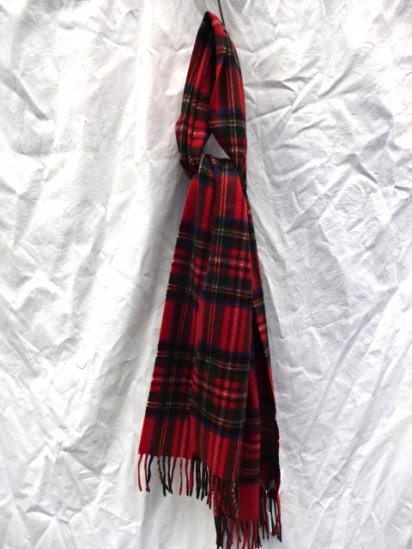 Joshua Ellis Cashmere Muffler Made in Scotland Royal Stewart