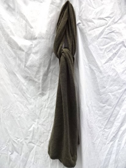 WILLIAM LOCKIE Cashmere Muffler Made in Scotland Olive