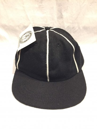 90's Dead Stock Negro League Baseball Cap Reproduct by NLBPA Made in U.S.A Black × White