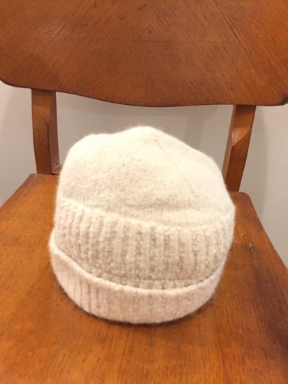 USED INIS MEAIN Alpaca Knit Cap Made in Ireland