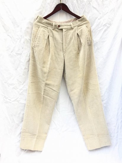 80's MISSONI Heavy Corduroy Trousers Made in Italy Sand