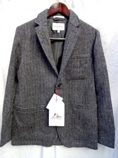 Vincent et Mireille Scottish Wool Herringbone Jacket GRAY