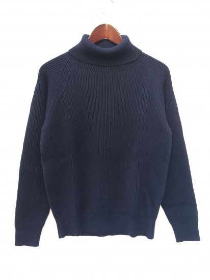 Vincent et Mireille 8GG AZE Knit Turtle Neck Sweater Navy