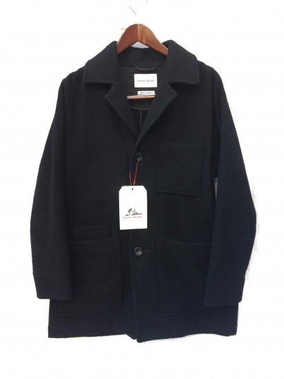 Vincent et Mireille Wool Chester Coverall Black
