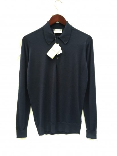 John Smedley Extra Fine Merino Wool Knit DORSET SHIRTS Made in England Midnight