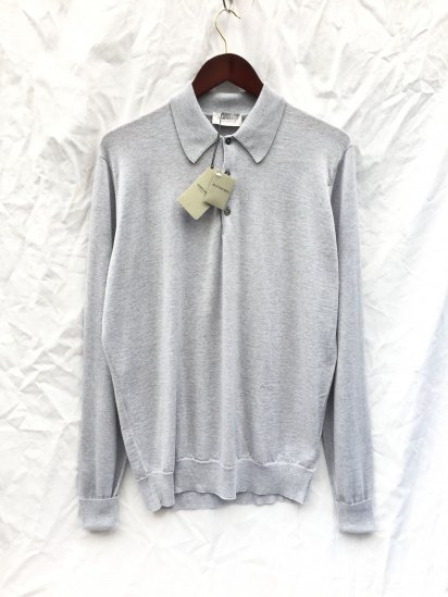 John Smedley Extra Fine Merino Wool Knit DORSET SHIRTS Made in England Bardot Grey