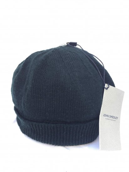 John Smedley Extra Fine Merino Wool Knit Cap Made in England Forest Green