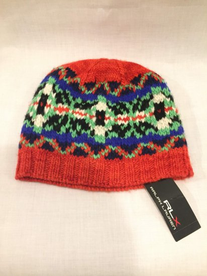 RLX Ralph Lauren Merino Wool Knit Cap<BR>SALE! 4,800 + Tax → 2,900 + Tax