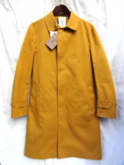 Mackintosh by Francis Campelli Balmacaan Coat Made in Ireland exclusively for Illminate Mustard