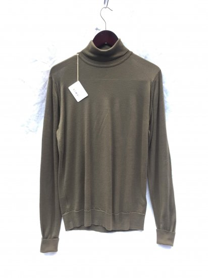 John Smedley Extra Fine Merino Wool Knit RICHARDS PLLOVER Made in England Olive