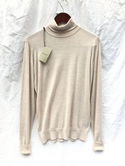 John Smedley Extra Fine Merino Wool Knit RICHARDS PLLOVER Made in England Beige