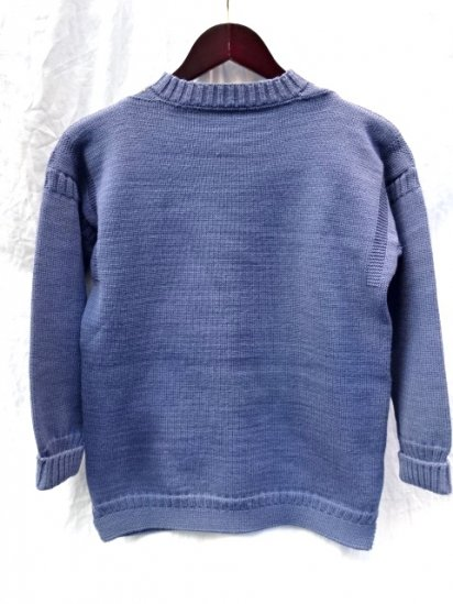 Vintage GUERNSEY KNIT Made in the British Channel Island Blue / 17