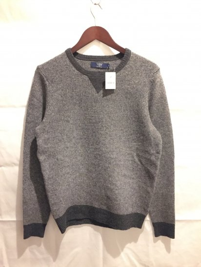 J.Crew Lambs Wool Waffle Knit Front Gusset Crew Neck Sweater<BR>SPECIAL PRICE!! 3,900 + Tax