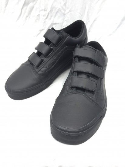 VANS VELCRO Leather Black