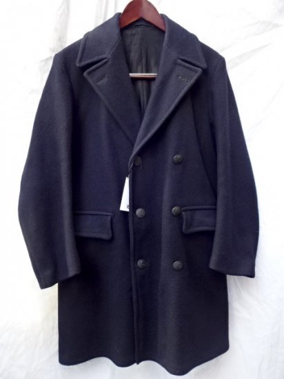 60's Vintage GPO W Breast Overcoat Short Length Navy