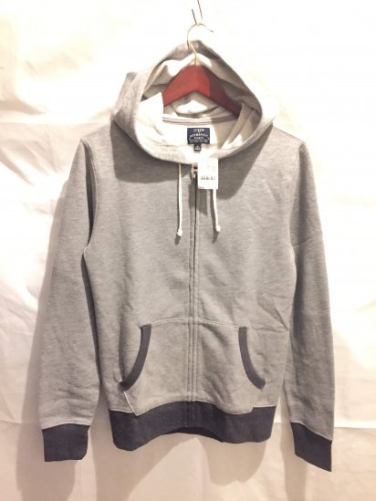 J.Crew Sweat Zip Up Parka Gray<BR>SALE!! 7,800 + Tax → 3,900 + Tax