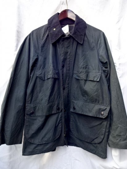 3 Crest Vintage Barbour Old Style BEDALE MADE IN ENGLAND Navy / 51
