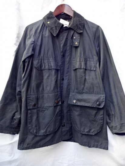 3 Crest Vintage Barbour Old Style BEDALE MADE IN ENGLAND Navy / 52