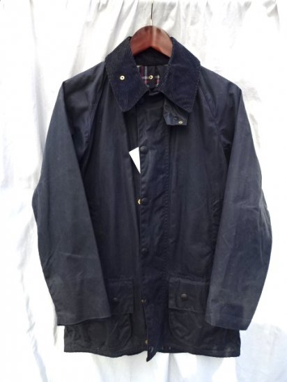 3 Crest Vintage Barbour Beaufort MADE IN ENGLAND Navy Good Condition/ 53