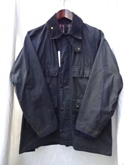 3 Crest Vintage Barbour Old Style BEDALE MADE IN ENGLAND Navy / 54
