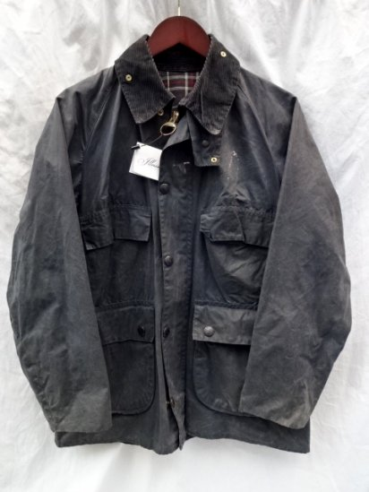 3 Crest Vintage Barbour Old Style BEDALE MADE IN ENGLAND Navy / 55
