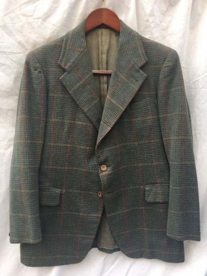40's Vintage St Planese Clothing CC41 Tweed Jacket Green Check