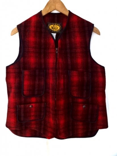 80〜90's Vintage Woolrich Wool Vest MADE IN U.S.A Good Condition/1