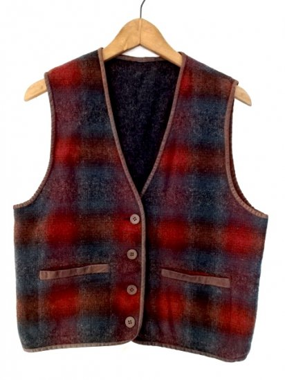 80〜90's Vintage L.L. BEAN Womens Wool Vest MADE IN U.S.A Good Condition