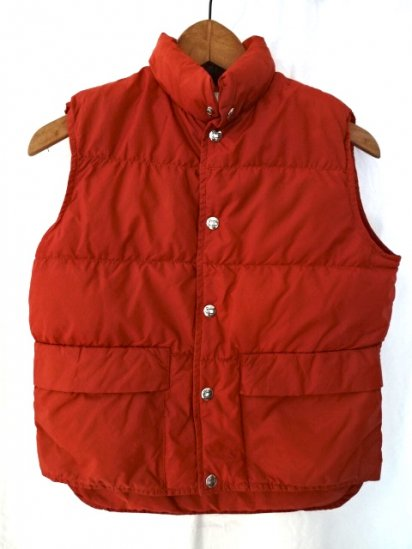 70〜80's Vintage Woolrich Boys Nylon Down Vest MADE IN U.S.A