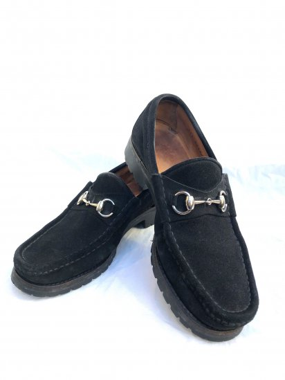 Old GUCCI Horsebit Loafer Made in Italy Black