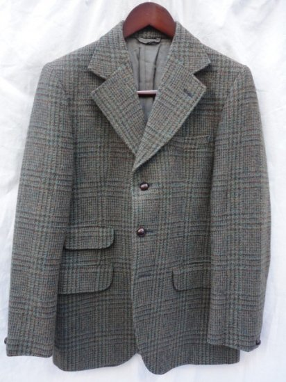60's Vintage Dunn & Co Tweed Jacket Olive Check