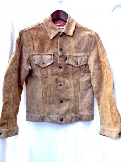60's Vintage LEVI'S Suede Jacket Made in U.S.A Camel