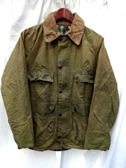2 Crest Vintage Barbour Old Style BEDALE MADE IN ENGLAND<BR>Olive / 56