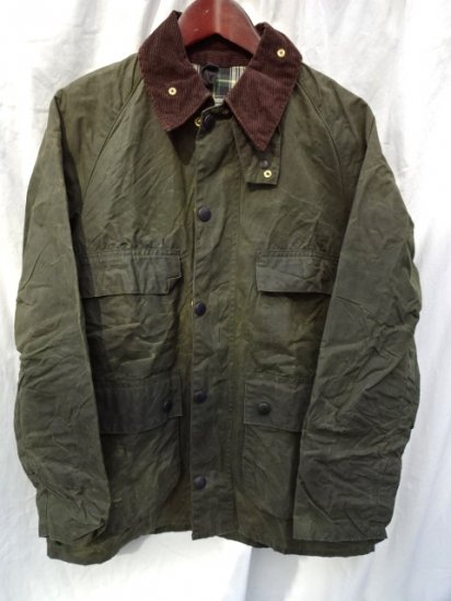 3 Crest Vintage Barbour Old Style BEDALE MADE IN ENGLAND<BR>Olive / 57
