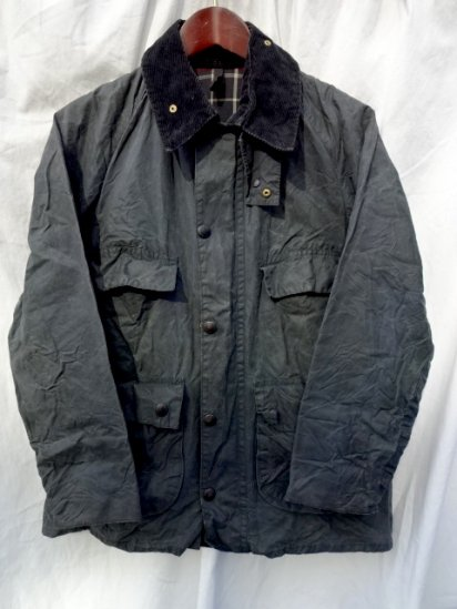 2 Crest Vintage Barbour Old Style BEDALE MADE IN ENGLAND<BR>Navy / 58