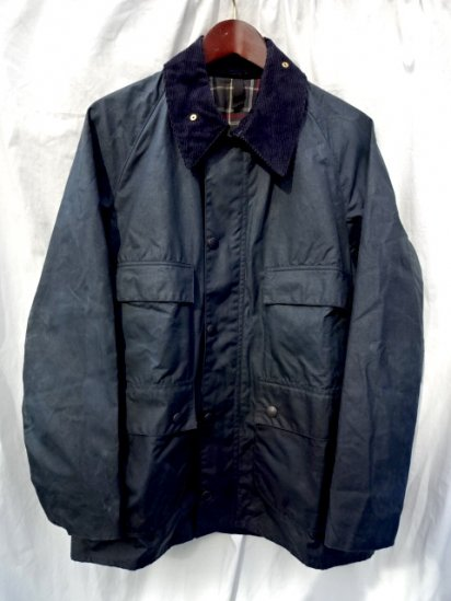 3 Crest Vintage Dead Stock Barbour Old Style BEDALE MADE IN ENGLAND<BR>Navy / 59