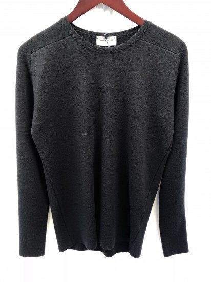 John Smedley A4276 ALL NEEDLE Pullover Made in England Black
